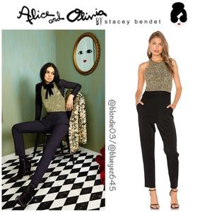 """Alice + Olivia """"Jeri"""" T-Back Sequin Jumpsuit 2"""